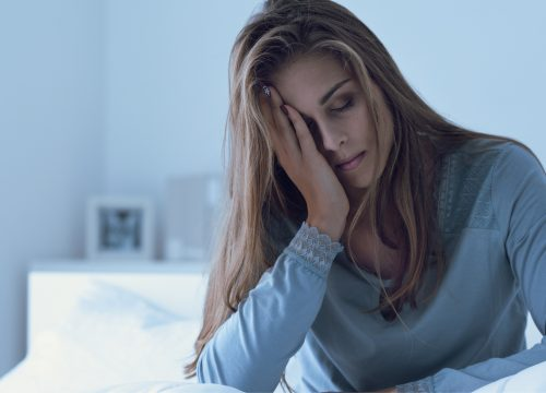 Woman showing exhaustion/fatigue