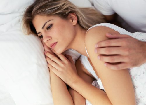 Woman suffering from painful sex